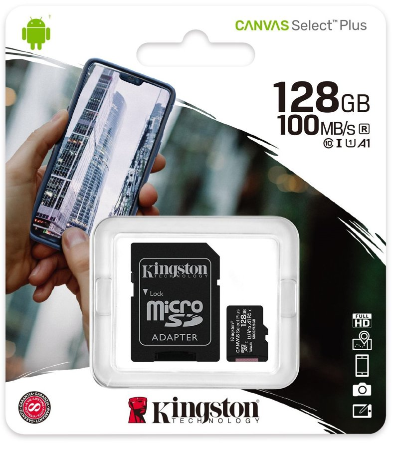 Cartão Micro SD Kingston 128GB Classe 10