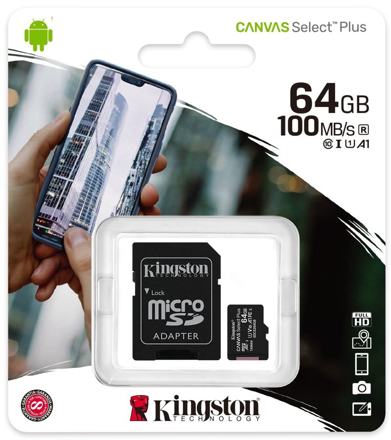 Cartão Micro SD Kingston 64GB Classe 10