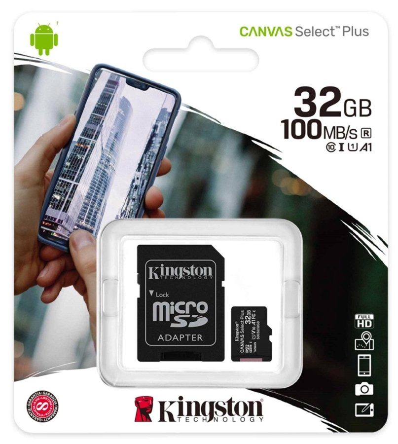 Cartão Micro SD Kingston 32GB Classe 10